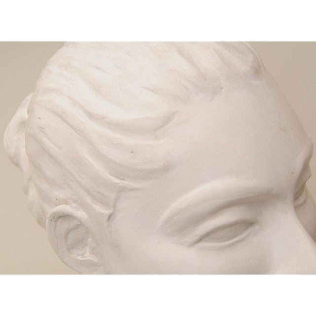 This wonderful italian aqualine plaster of paris head bust sculpture is so reminescent of what would be in a museum...