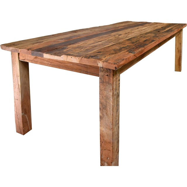 Reclaimed Wood Dining Table - Image 1 of 4