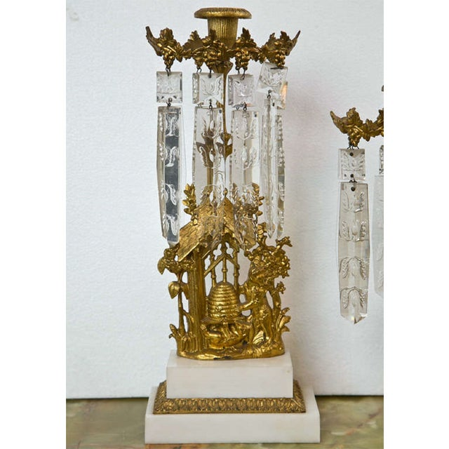French French Belle Epoque Style Candelabras - Set of 3 For Sale - Image 3 of 8