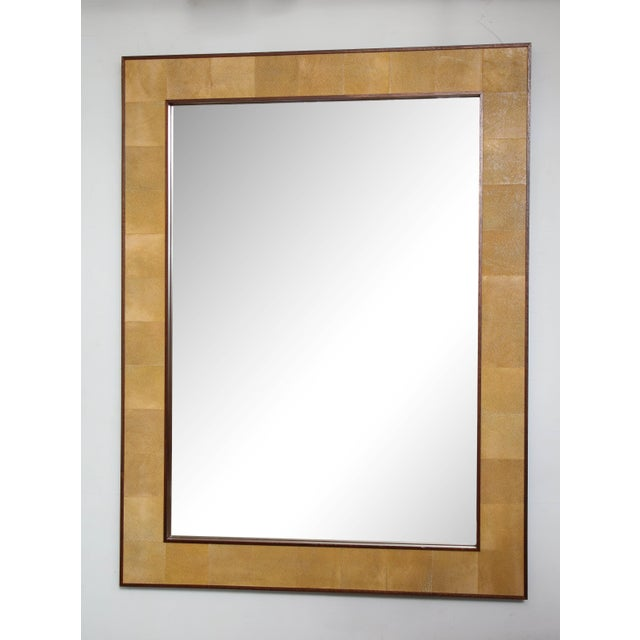 Glass Rectangular Shagreen Mirror For Sale - Image 7 of 7