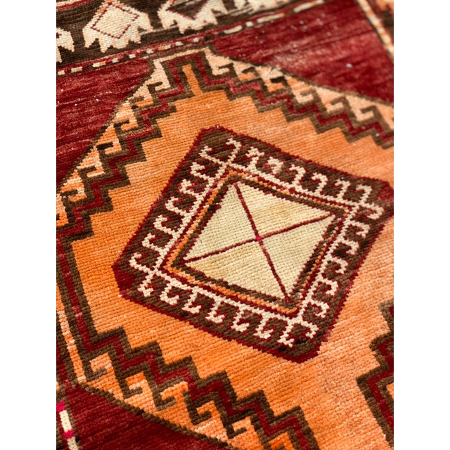 "1950's Vintage Turkish Anatolian Runner Rug - 3'2""x11'2"" For Sale - Image 10 of 13"