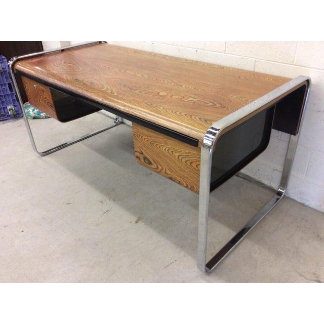 Mid-Century Modern Peter Protzman for Herman Miller Exotic Zebrawood Desk For Sale - Image 3 of 11