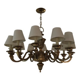 Antique Brass Chandelier For Sale