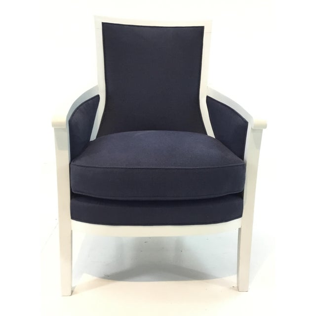 Transitional Navy and White Hickory Chair Breck Chair For Sale In Atlanta - Image 6 of 6