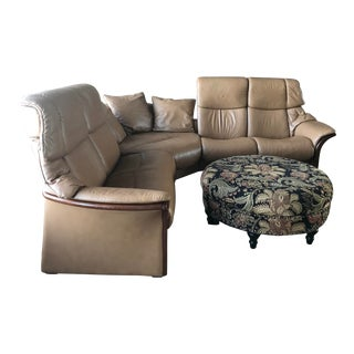 Sectional Couch With Optional Ottoman For Sale