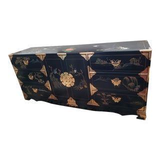 Vintage Black Asian Chest