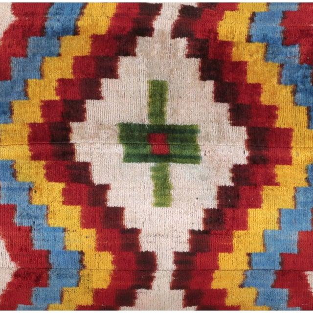 Bohemian Silk Velvet Accent Pillow - Image 3 of 5