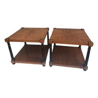 John Stuart Hollywood Regency Louis XVI French Side Tables - A Pair