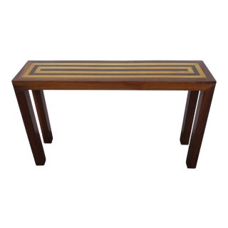 Mid Century Modern Two Tone Small Narrow and Long Console Library Table 2356 For Sale
