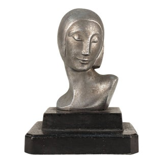 Bust of a Woman on a Black Base For Sale
