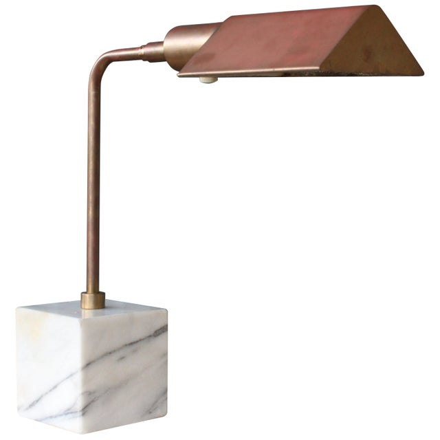 Gold Desk Lamp by Koch & Lowy, 1970s For Sale - Image 8 of 8