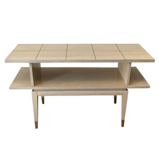 Lane Mid-Century Console Table Bar For Sale