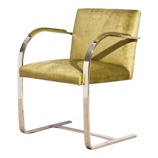Brno Flat Bar Chair in Antique Green For Sale