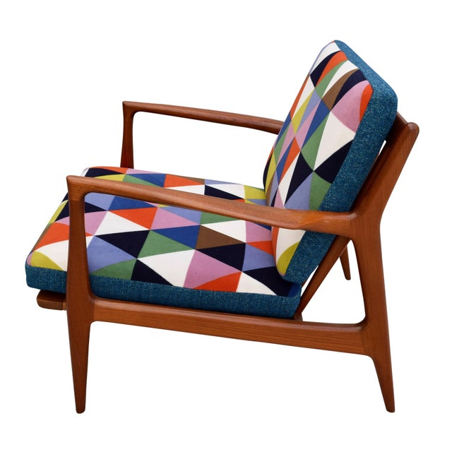 Contemporary Vintage Danish Mid-Century Teak Lounge Chair For Sale - Image 3 of 10