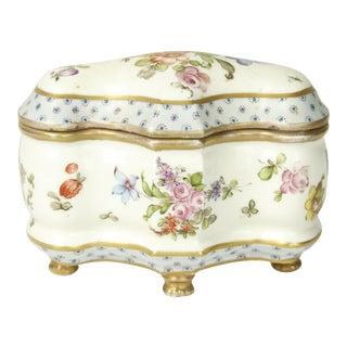 Antique Marcolini Meissen Porcelain Jewel Casket For Sale