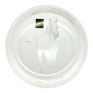 Hoya Crystal Wine Bottle Coaster. Japan For Sale