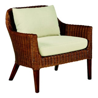 Century Furniture Wicker Accent Chair-Sand/Flax For Sale