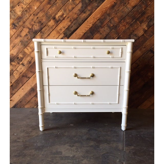 Vintage Hollywood Regency White Lacquer Dresser - Image 2 of 7