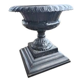 Antique Iron Garden Urn For Sale