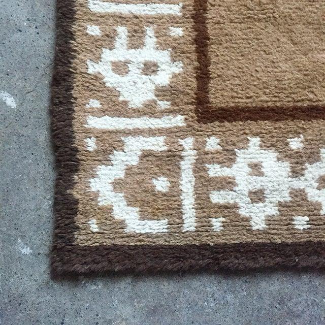 """Vintage Alpaca & Wool Peruvian Rug - 6'4"""" x 4'10"""" - Image 7 of 11"""