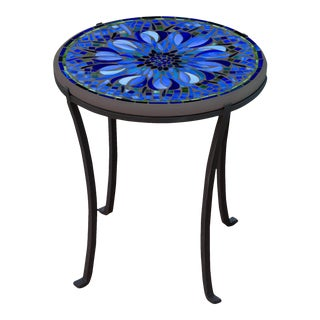 """Bella Bloom 18"""" Chaise Table with Black Base For Sale"""
