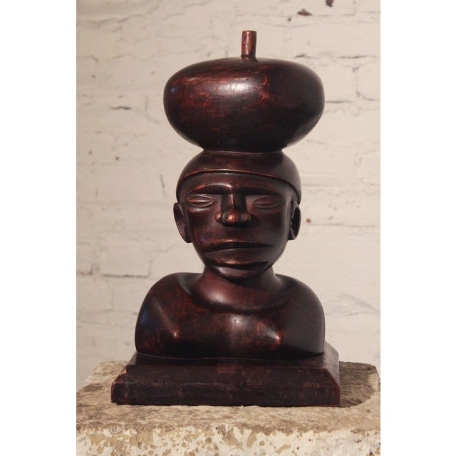 Tribal Ironwood Hand-Carved Woman's Bust - Image 2 of 8