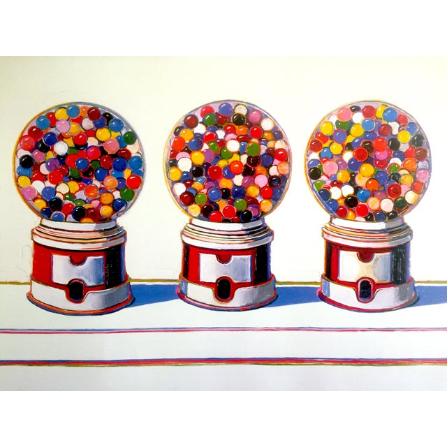 "Wayne Thiebaud Lithograph Print Pop Art Museum Poster "" Three Machines "" 1963 For Sale In Kansas City - Image 6 of 12"