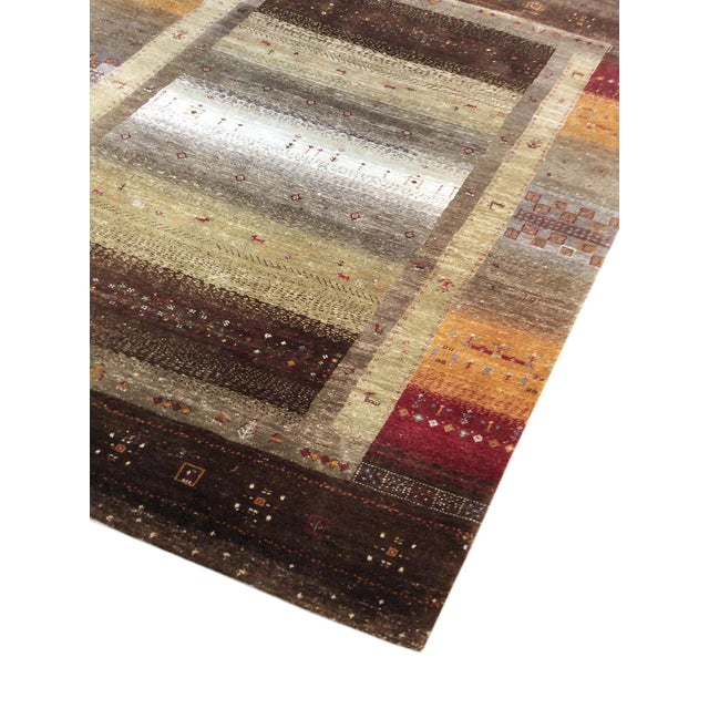 """Tribal Hand-Knotted Shiraz Wool Rug - 5'7"""" X 7'8"""" - Image 3 of 4"""