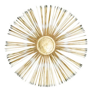 Mid Century Sunburst Wall-Mounted Sculpture Inspired by Curtis Jere For Sale