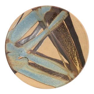 Studio Pottery Shallow Bowl For Sale