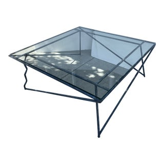 Mid-Century Modern Metal Coffee Table For Sale