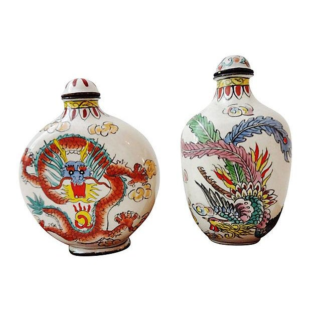 Chinese Dragon Snuff Bottles- A Pair - Image 3 of 7
