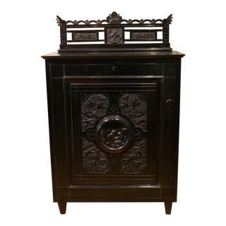 Victorian Ebonized Vinyl Records Cabinet For Sale