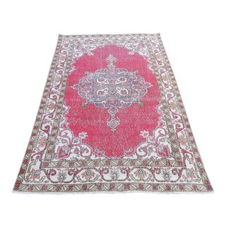 1960s Turkish Oushak Rug-3′11″ × 7′ For Sale