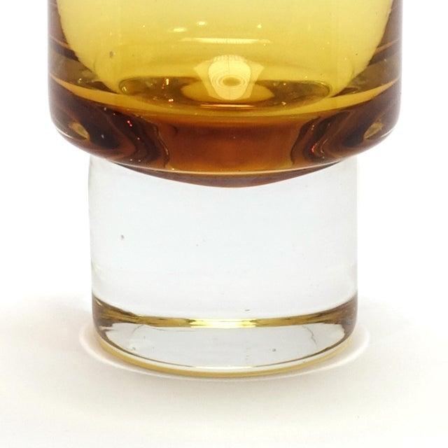 1960s Aseda Sweden Mid-Century Modern Golden Crystal Glass Vase For Sale - Image 5 of 6