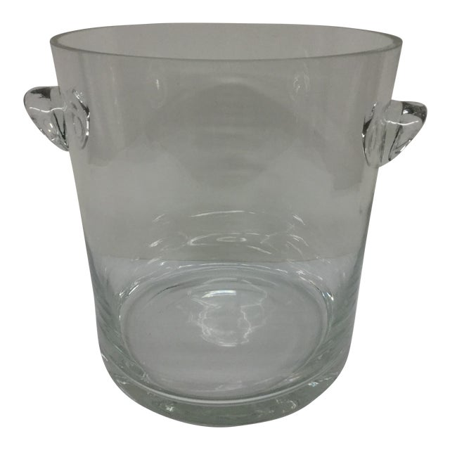 1920 Art Deco Crystal Ice Bucket For Sale