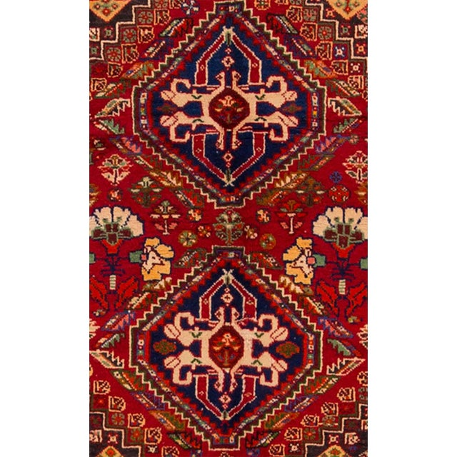 """Mid-20th Century Vintage Persian Shiraz Rug, 3'6"""" X 5' For Sale - Image 4 of 7"""