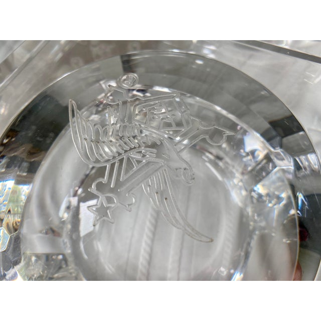 Transparent 1960s Vintage Peter Alan Designs Anheuser Busch Lucite Candy Dish For Sale - Image 8 of 11
