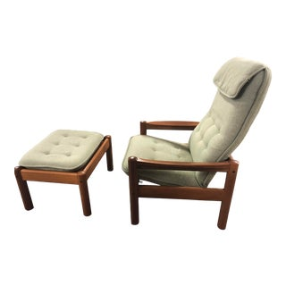 Domino Mobler Chair and Ottoman