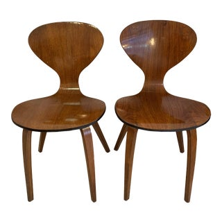 1960s Vintage Norman Cherner Chairs for Plycraft- A Pair For Sale