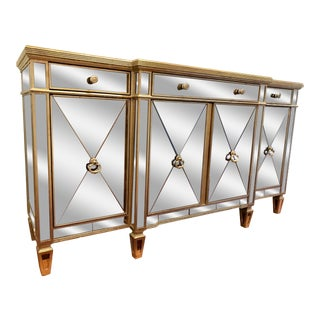 Neiman Marcus Amelie Mirrored Borghese Buffet / Sideboard For Sale