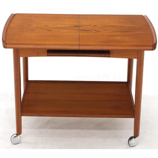 Danish Mid-Century Modern Teak Expandable Cart With One Leaf For Sale - Image 12 of 13