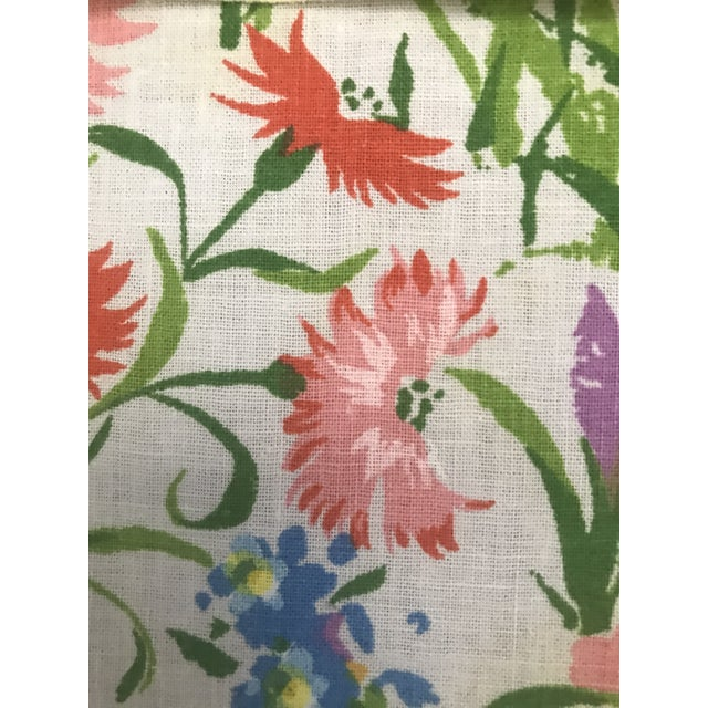 Mid 20th Century Vintage Spring Time Floral and Yellow Dinner Napkins - Set of 10 For Sale In San Francisco - Image 6 of 7