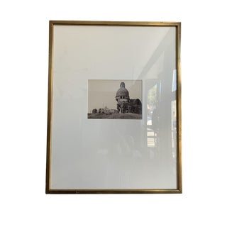 Black and White Photograph of Destructed Dome Building For Sale