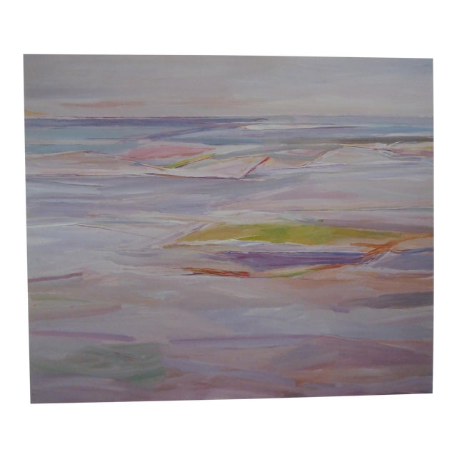 """1980's """"Sand & Water"""" Abstract Lithograph For Sale"""