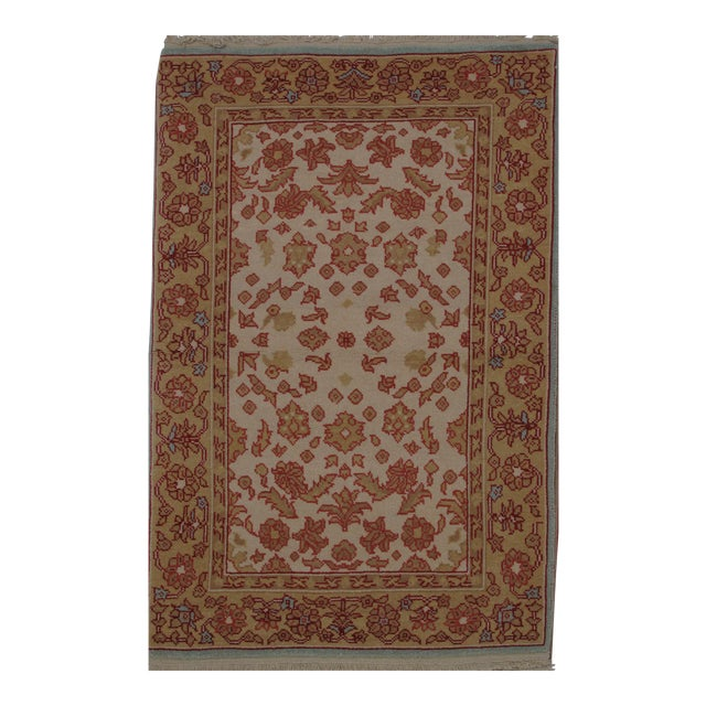 Turkish Oushak Design Hand Woven Wool Rug - 4' X 6' - Image 1 of 5