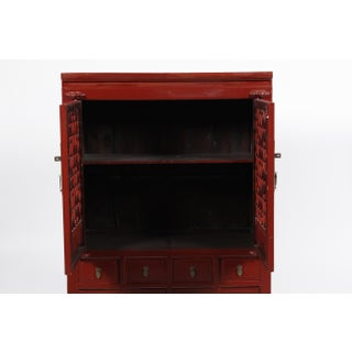 19th-C. Ming Style Chinese Lattice Cabinet Preview