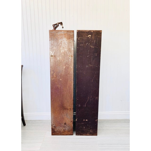 Industrial Metal Watchmaker/Jeweler Parts Cabinets - a Pair For Sale - Image 10 of 13