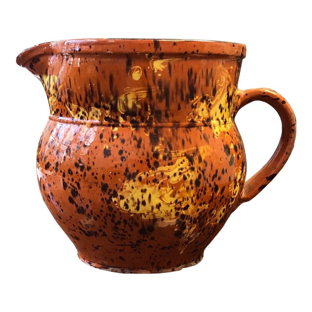 French 19th Century Red-Ware Pitcher For Sale