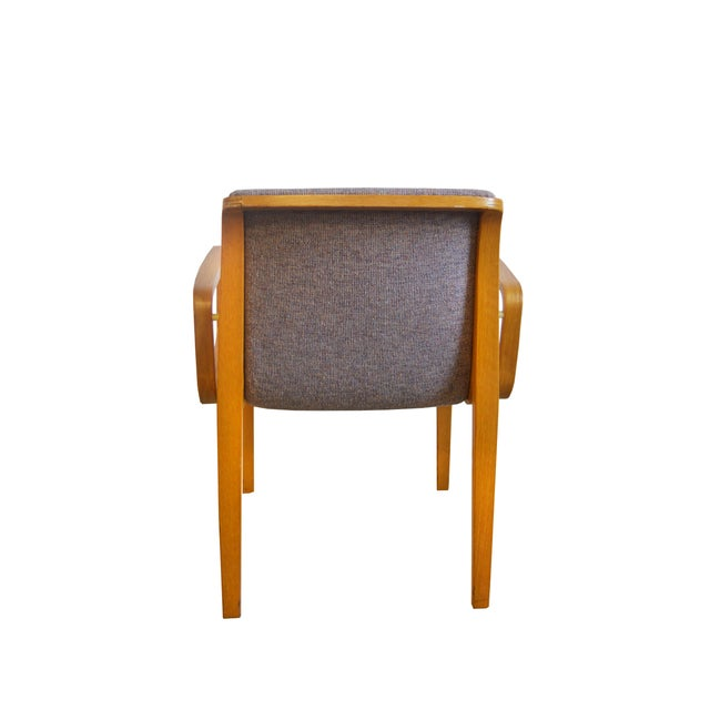 Knoll 1980s Vintage Bill Stephens for Knoll Dining Chairs- A Pair For Sale - Image 4 of 5